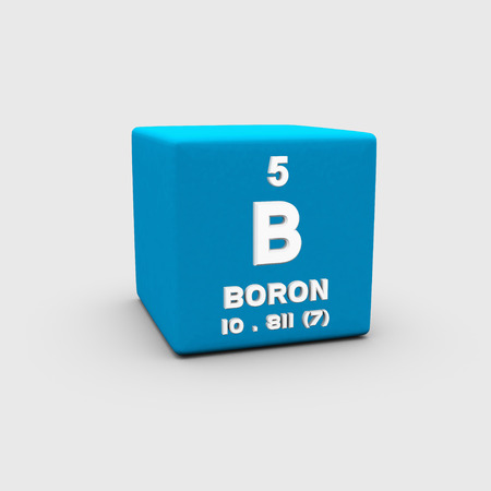 Atomic number boron photo