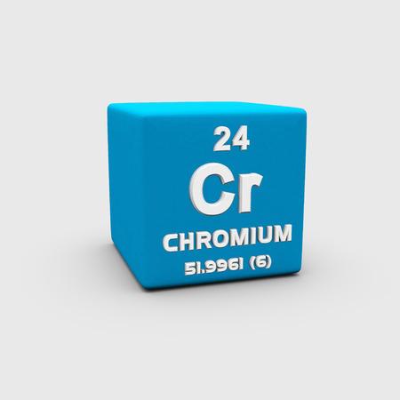 chromium: Atomic Number Chromium Stock Photo