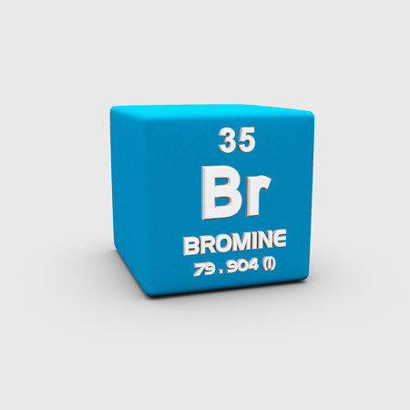 affinity: Atomic Number Bromine Stock Photo