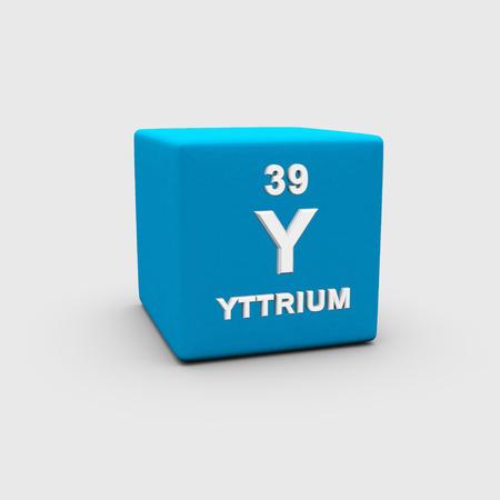 atomic: Atomic Number Yttrium Stock Photo