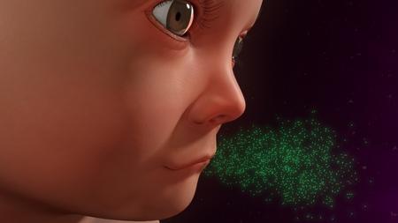 cough: Child cough Stock Photo