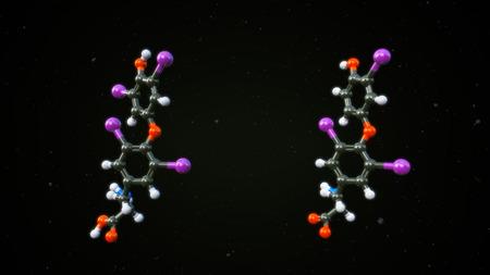 hormonas: Hormonas T3 y T4 Foto de archivo