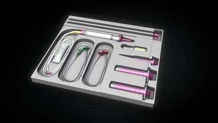 catheter: Catheter set Stock Photo