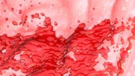 hemorragias: sangrado de la menstruación Foto de archivo