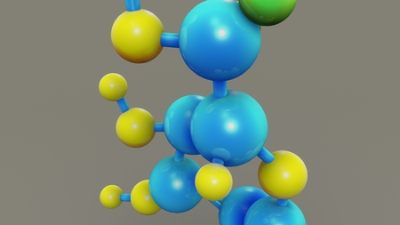 Glucose Structure closeup Stock Photo