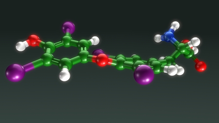 Thyroxine top Reklamní fotografie