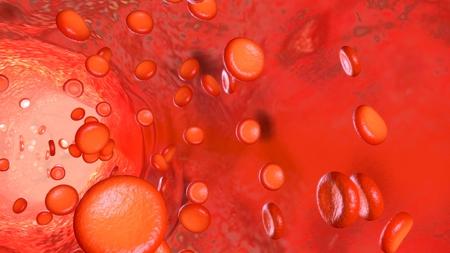 Blood Flow closeup Stock Photo