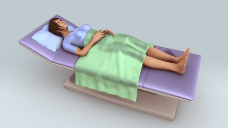 Patient Lying aerial Stock Photo
