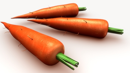 Carrot aerial Stock Photo