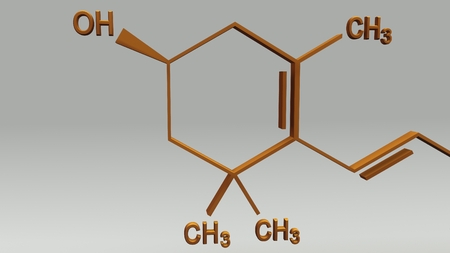 structural formula: Xanthophyll Structure back Stock Photo