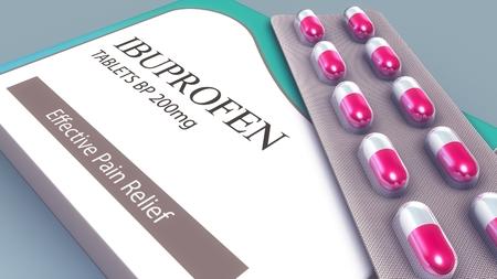 Ibuprofen Tablets perspective Stock Photo - 88470210