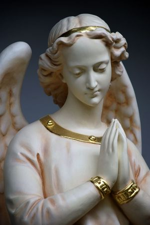 Angel in pray and peace  Stock Photo