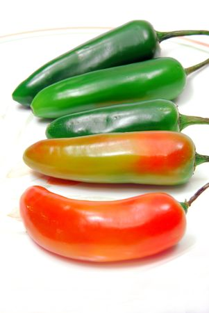 ingredient: Fresh hot pepers , food ingredient isolated