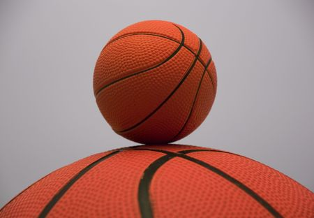 basketballs: Junior basketball.Regular size and miniature basketballs