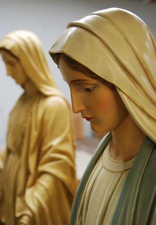 virgen maria: Virgen Mary.Studio shot.The cifras se han producido en el inicio del siglo 20  Foto de archivo