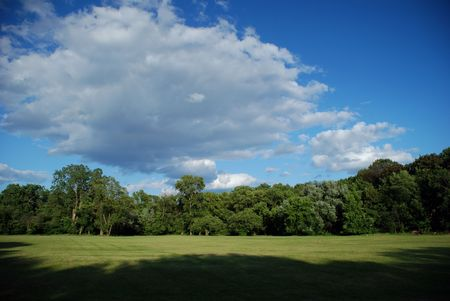 Perfect day.Panorama landscape