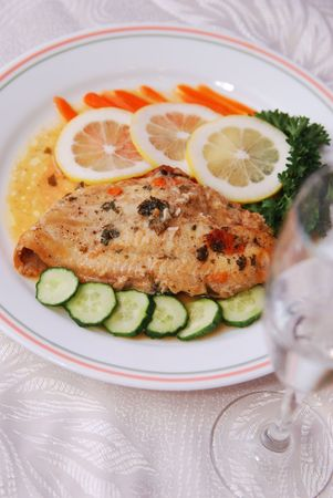 Fillet of Fish and Salad photo
