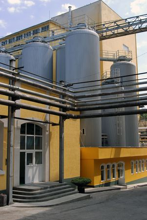 Modern Brewery in Veliko Tarnovo ,Bulgaria. Stock Photo - 3771837