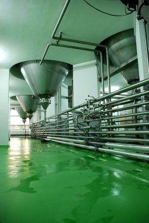 brewery: Modern Brewery equipment Stock Photo
