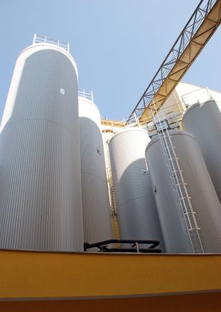 Modern Brewery plant Stock Photo