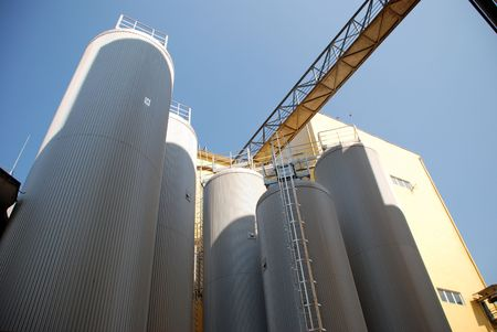 brewery: Modern Brewery plant Stock Photo