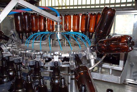 Brewery washing machine Stock Photo
