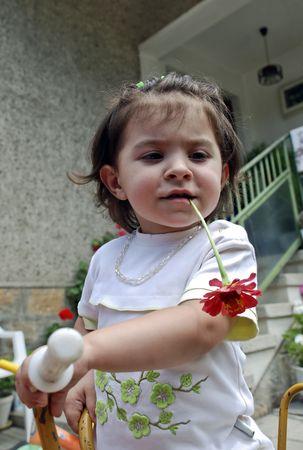 Enjoying the  flower