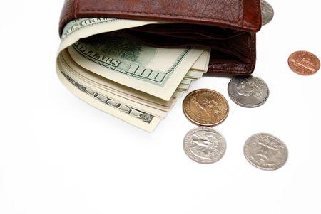 Wallet full of money.