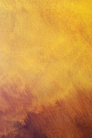 Abstract yellow-brown painting on canvas .Nice texture,good for background