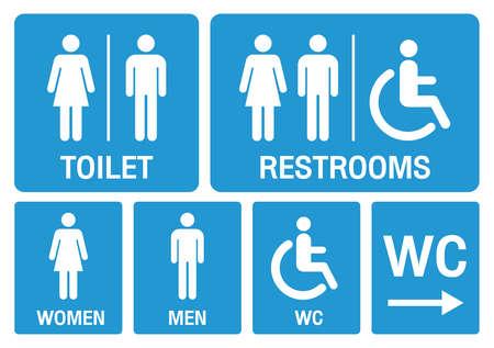 toilet signs. set toilet signs illustration vector. Vecteurs