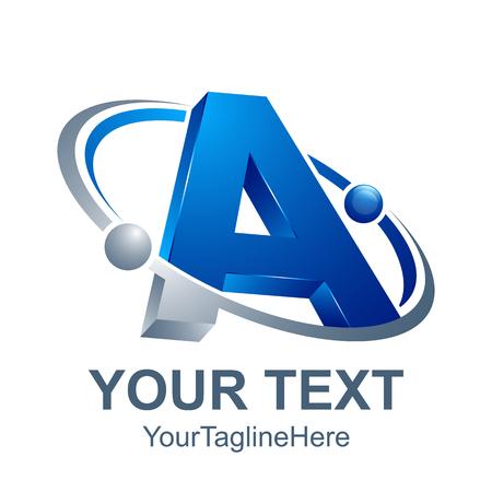 3d abstract Letter A logo design template elements. abstract letter A. Business corporate letter A logo design vector.