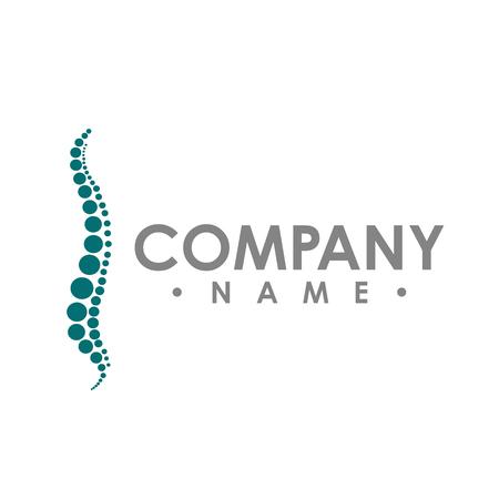 Chiropractic abstract vector logo design template. chiropractic Medicine, Healthcare design Vettoriali