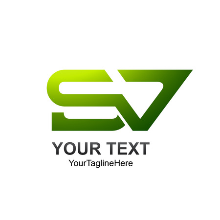 Letter SV initial alphabet logo design template element  イラスト・ベクター素材