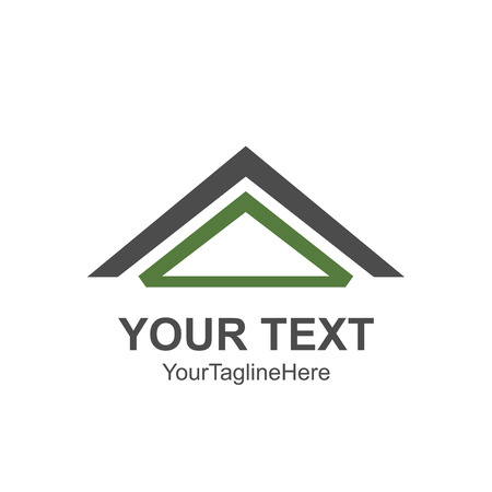 House roof and home logo vector element. Company logo design. Vectores