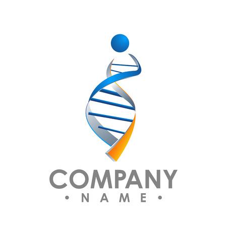 DNA sequence light 3d flat vector illustration art. Educational logo medicine center healthcare