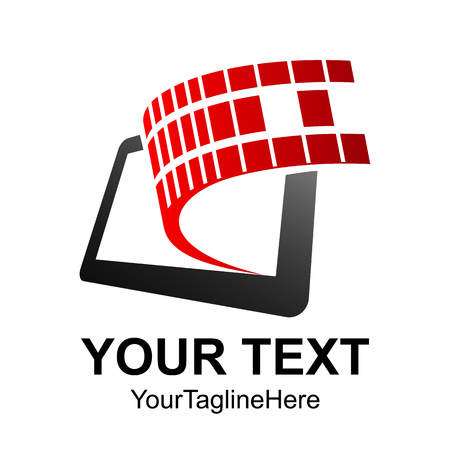 Mobile Phone App Center Logo Design Template Vector 向量圖像