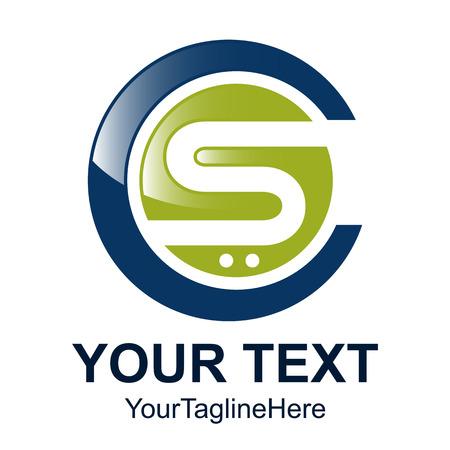 Elemento de plantilla de diseño de logotipo de letra inicial CS para identidad empresarial y empresarial Logos