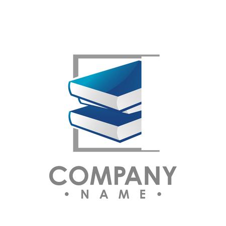 creative book logo vector, Book color logo, School books, Education books