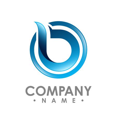 3D B letter logo design vector illustration logo set, B letter logo vector, letter B logo vector, creative Letter B letter logo Logo