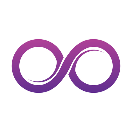 Purple Infinity symbol icons vector illustration. Unlimited, limitless symbol, sign. Infinity icon Vectores