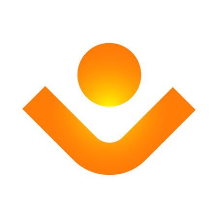 Human character logo sign Health care logo sign. Nature logo Illustration