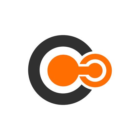 Symbol of solar system. Thin line icon of set of space logo Illustration