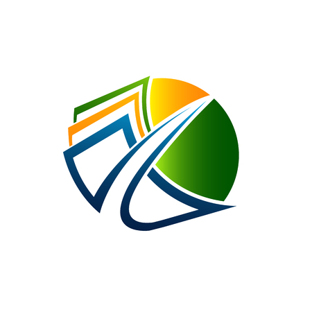 Vector logo design template. News, branding, magazine