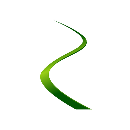 Abstract green color line wave for wedding and business finance Çizim