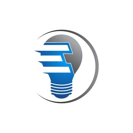 Light Bulb Original Simple Minimal Symbol Containing Sun Image. Memorable Visual Metaphor. Represents Concept of Creativity, Genesis & Development of Bright Ideas, Eureka, Effective Thinking etc Vettoriali