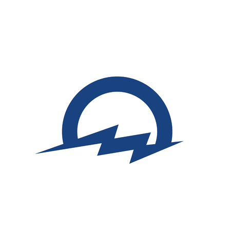Cloud and Lightning Logo icon Template Vector Design