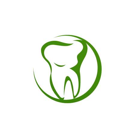 dental clinic logo. unique. modern effect. clean. icon. vector
