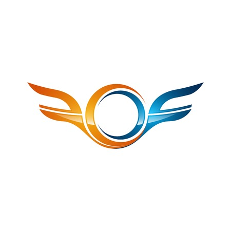 strong wings abstract bold color logo, Winged logo company and icon wing flying, eagle wing brand and logotype wing bird illustration, colorful wings modern style logo