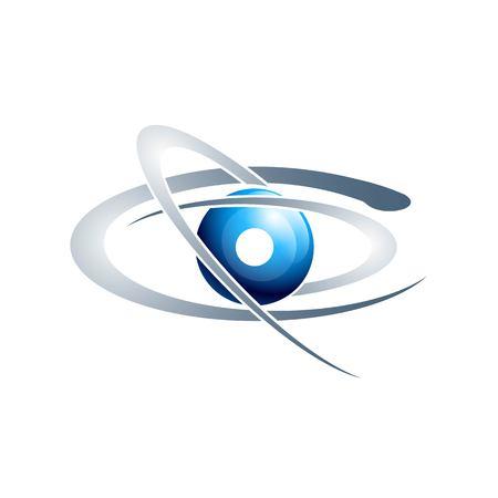 Vector Planet, Satellite, Cosmos, Science icon design.