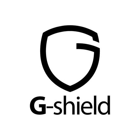 Shield initial black line letter G logo concept design template Banque d'images - 119420228